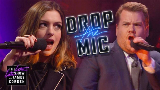 How do you follow up the viral sensation that is Carpool Karaoke? You get the celebrities out of the car and into an epic rap battle, of course.James Corden's newest late night segment, 'Drop The Mic' is the latest of his videos to go viral and quite rightly too as it pits celebrities against each other in a rap battle of epic proportions.Check out who spits the best rhymes!