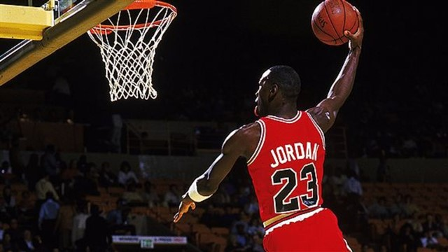 Micheal Jordan is widely considered the greatest basketball player of all time. His resume is unmatched: six-time NBA champion, five-time MVP and a 14-time NBA All-Star. Jordan was also known as one of the top defensive players in the league, earning the Defensive Player of the Year Award in 1988. The list goes on and on.Jordan is the first player ever to win back-to-back slam dunk competitions, doing so in 1987 and 1988. Known for his incredibly high vertical leap, Michealhas left us with some jaw-dropping slam dunks, leavingseveral in awe and forcing many to say he is the greatest dunker ever.Here are the top 10 slam dunks ofMichael Jordan's career.