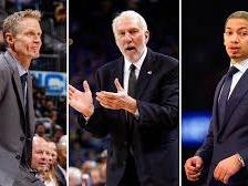 NBA top coaches of 2018.