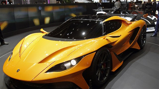 Top 10 most expensive cars.