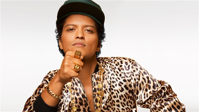 Peter Gene Hernandez (born October 8, 1985), known professionally as Bruno Mars, is an American singer-songwriter, multi-instrumentalist, record producer, and dancer. Born and raised in Honolulu, Hawaii, Mars moved to Los Angeles in 2003 to pursue a musical career. After being dropped by Motown Records, Mars signed a recording contract with Atlantic Records in 2009. In the same year, he co-founded the production team The Smeezingtons, responsible for various successful singles for Mars himself and other artists. In 2016, Shampoo Press & Curl replaced The Smeezingtons on the composition of Mars' third studio album, 24K Magic.Wikipedia